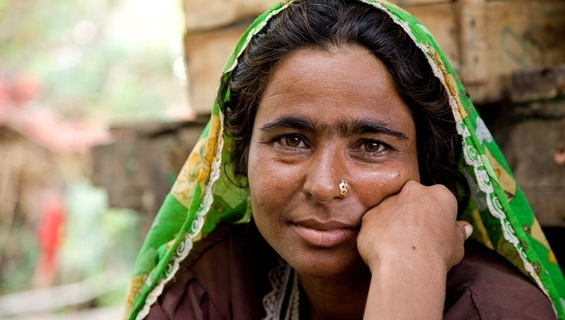 A Sindhi woman from Thata District of Sind province